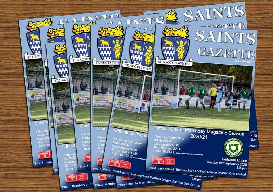 Online Matchday Gazette now available to download for the visit of Bedworth United
