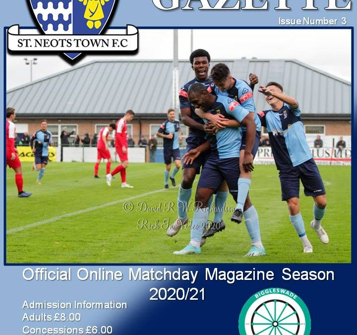 2020/21 Matchday Gazette – St Neots Town vs Biggleswade FC – Issue Three